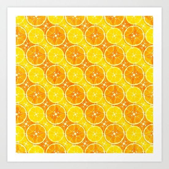 oranges & lemons v1 Art Print
