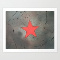 bucky Art Prints featuring Bucky by PeonyPaints