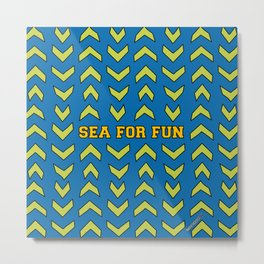 Sea for fun (blue) Metal Print