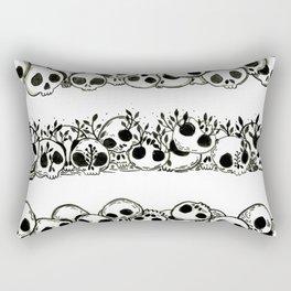 several piles of skulls Rectangular Pillow