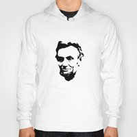 lincoln Hoodies featuring Lincoln by Charles Emlen