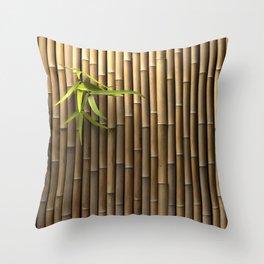Bamboo Wall Throw Pillow