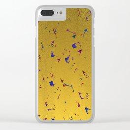 Confetti & Gold Festive Clear iPhone Case