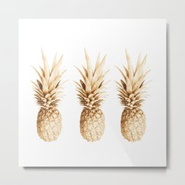 Pineapples and illusion Metal Print