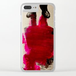 Ain't no splashes gonna hurt me Clear iPhone Case