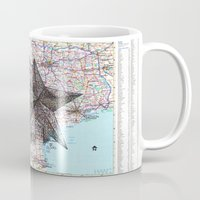 texas Mugs featuring Texas by Ursula Rodgers