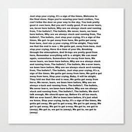 Sign of the Times (Lyrics) Canvas Print