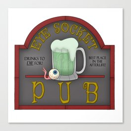 Eye Socket Pub Canvas Print