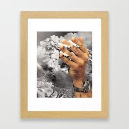 Even The Mountain Smokes Framed Art Print