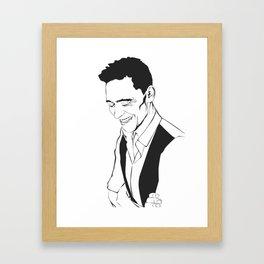Laughing Hiddleston Framed Art Print