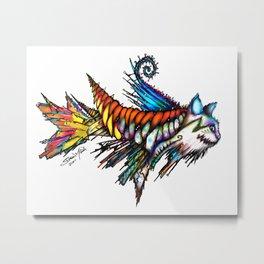 Catfished Metal Print