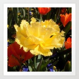Happy Yellow Tulip Art Print