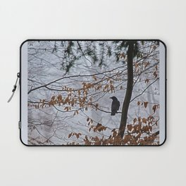 Crow in the mist Laptop Sleeve