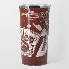 2011 HD VRSCF V-Rod Muscle red blueprint Travel Mug