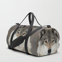 Winter Wolf Duffle Bag