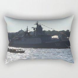 "The military ship ""Smart"" / ""Soobrazitelniy"" 531. The Neva River. Rectangular Pillow"