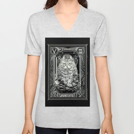 JUSTICE of Tarot Cat Unisex V-Neck