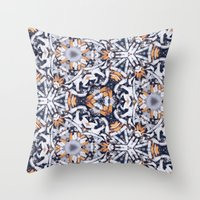 cigarettes Throw Pillows featuring cigarettes pattern by Sushibird