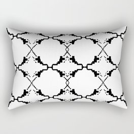 Ethno ornaments, black white Rectangular Pillow