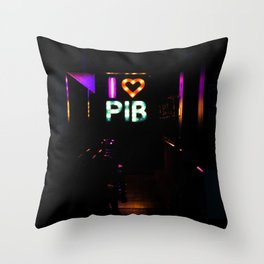 I Heart PIB Throw Pillow