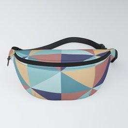 Abstract geometric pinwheel pattern Fanny Pack
