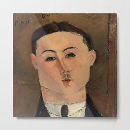 "Amedeo Modigliani ""Paul Guillaume"" Metal Print"