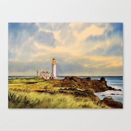 Turnberry Golf Course Scotland 9th Tee Canvas Print