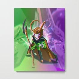 Cell x Loki Mashup Metal Print