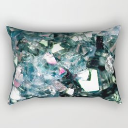 Geode Crystal Turquoise Pink Quartz Rectangular Pillow