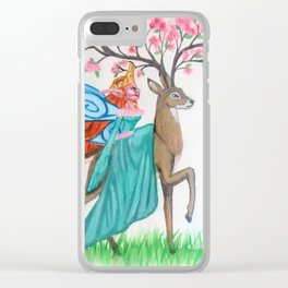 Fairy Queen and Her steed Clear iPhone Case