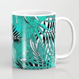 Tropical leaves background texture Coffee Mug