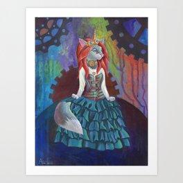 Steampunk Kitty Art Print