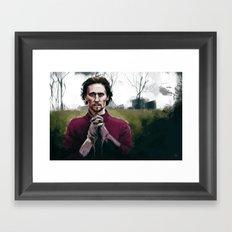 Henry V praying Framed Art Print