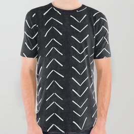 Mudcloth Big Arrows in Black and White All Over Graphic Tee