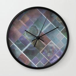 Geometric Watercolor Wall Clock