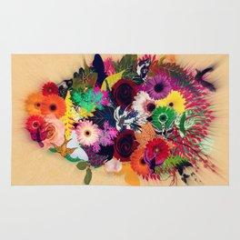 skull of flowers Rug