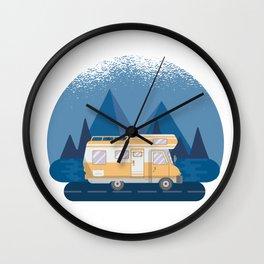 Motorhome Camping Caravan Van Wall Clock