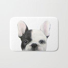 French Bulldog Dog illustration original painting print Bath Mat