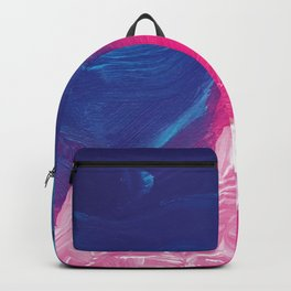 Abstract Painting - Purple, Magenta, Cyan Backpack