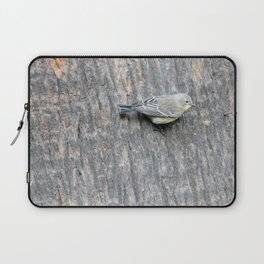 TEXTURES -- Warbler on Palm Bark Laptop Sleeve