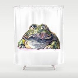 Bullfrog Snacking Shower Curtain