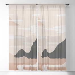 Morning rise 2 Sheer Curtain