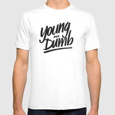 young & dumb Mens Fitted Tee White MEDIUM