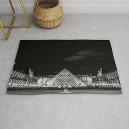 Louvre under the stars Rug