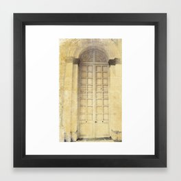 door3 Framed Art Print