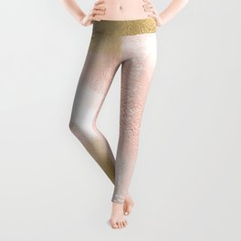 Rose Gold and Gold Blush Leggings