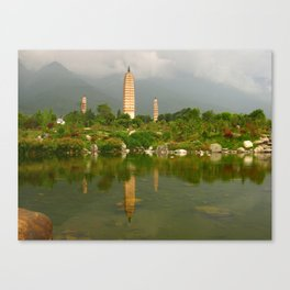 Three Pagodas Canvas Print