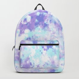 Blue and Purple Tie-Dye Backpack