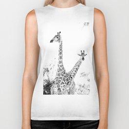 between giraffes Biker Tank