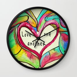 Love One Another John 13:34 Wall Clock